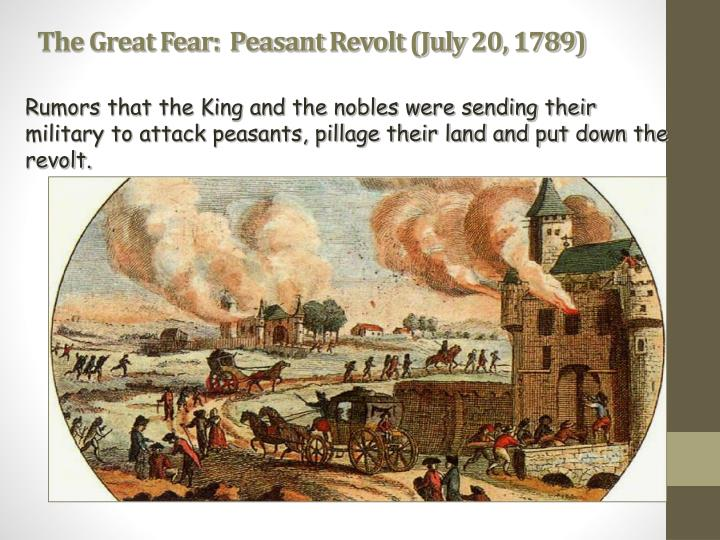 The Great Fear:  Peasant