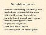 ett socialt territorium