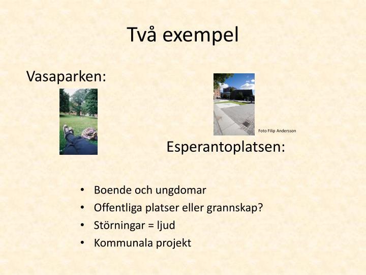 Två exempel