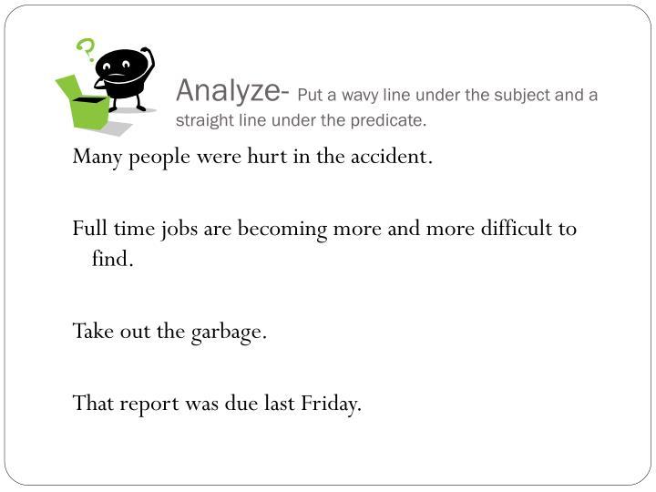 Analyze-