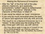 making the romance of innocence