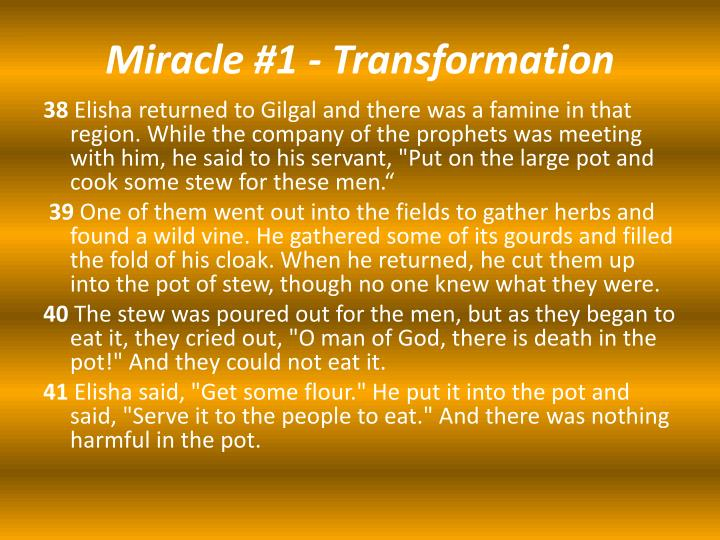 Miracle 1 transformation