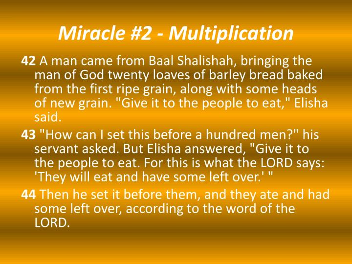 Miracle 2 multiplication