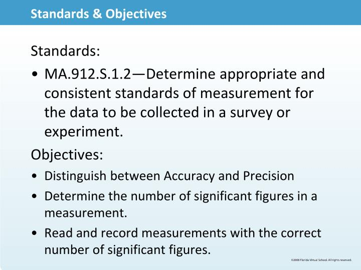 Standards & Objectives