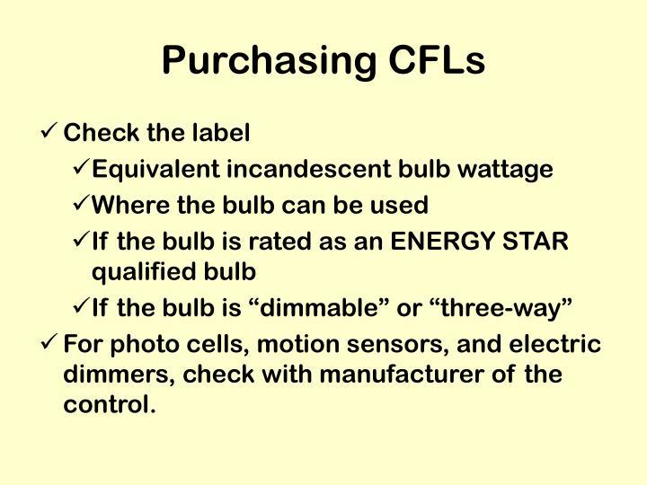 Purchasing CFLs