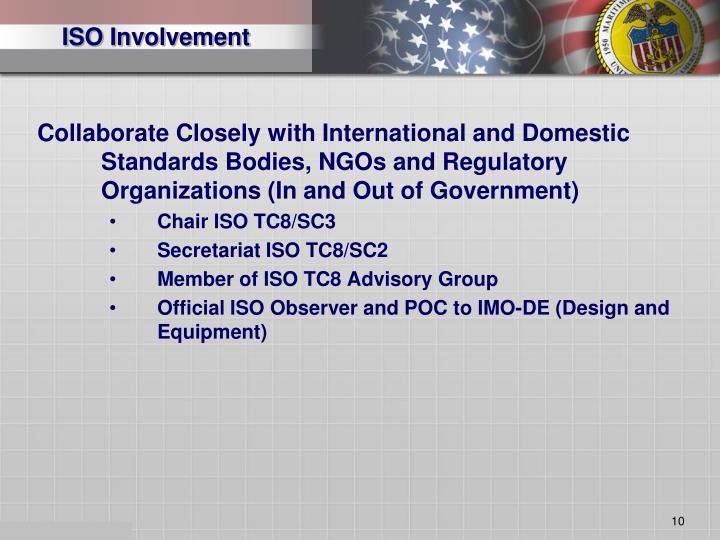 ISO Involvement
