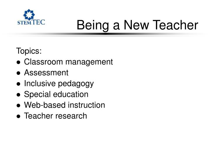 Being a New Teacher