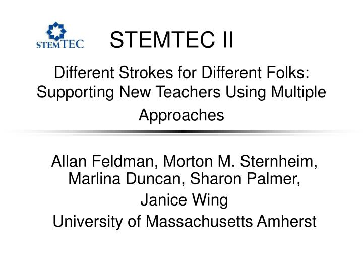 Different strokes for different folks supporting new teachers using multiple approaches