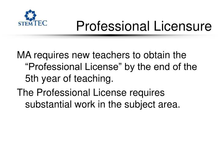 Professional Licensure