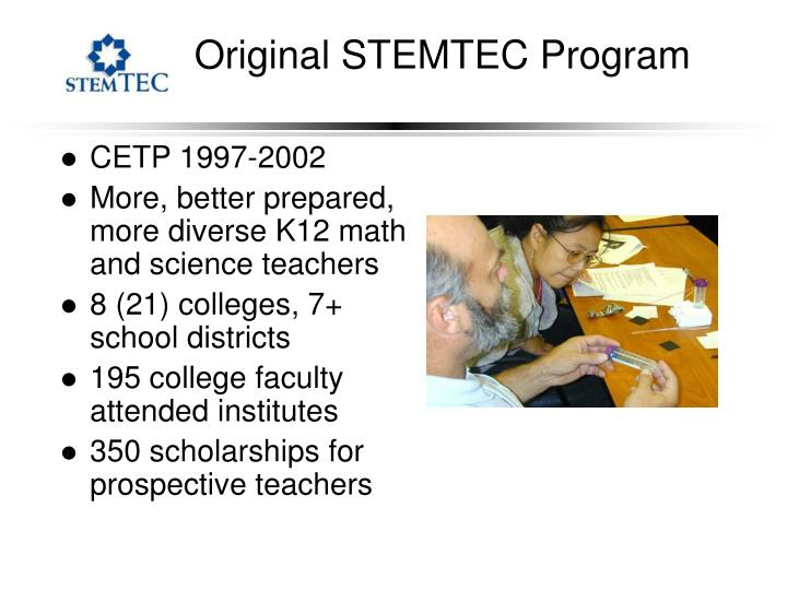 Original STEMTEC Program