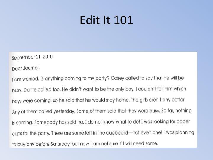 Edit It 101