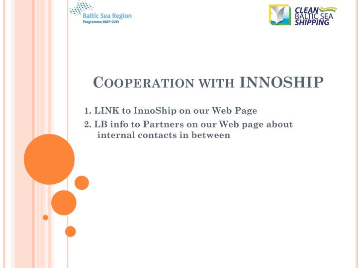 Cooperation with innoship