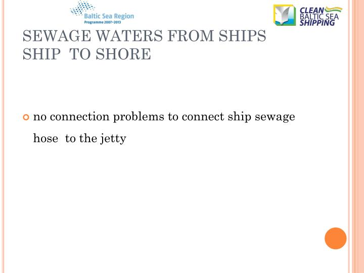 SEWAGE WATERS FROM SHIPS
