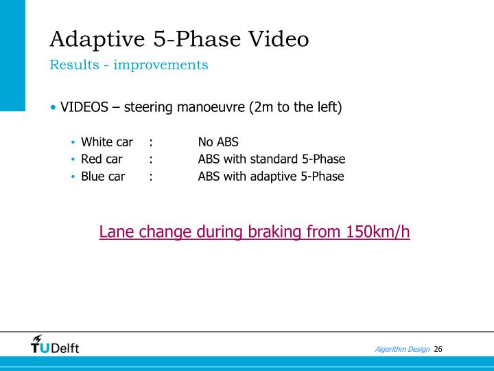 Adaptive 5-Phase Video