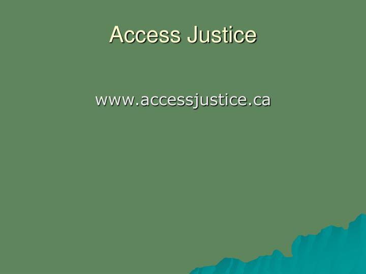 Access Justice
