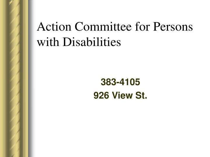 Action Committee for Persons with Disabilities