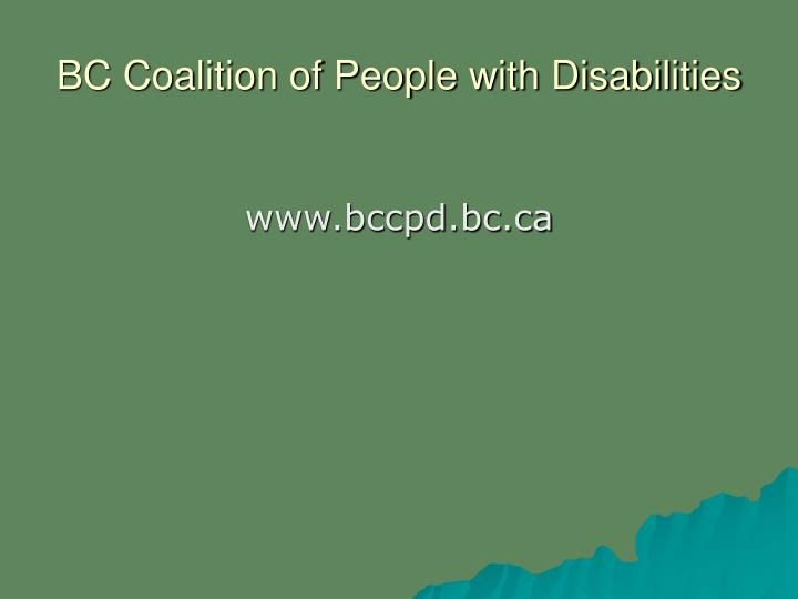 BC Coalition of People with Disabilities