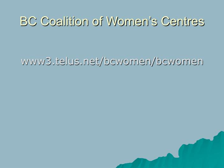 BC Coalition of Women's Centres