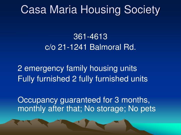 Casa Maria Housing Society