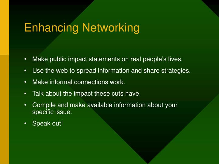 Enhancing Networking