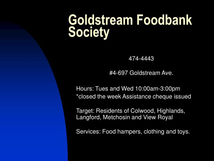 Goldstream Foodbank Society