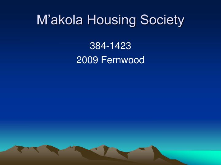 M'akola Housing Society