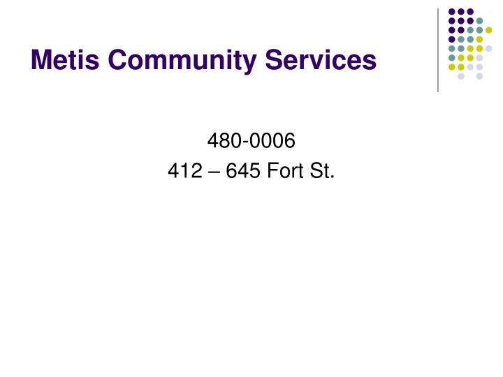 Metis Community Services