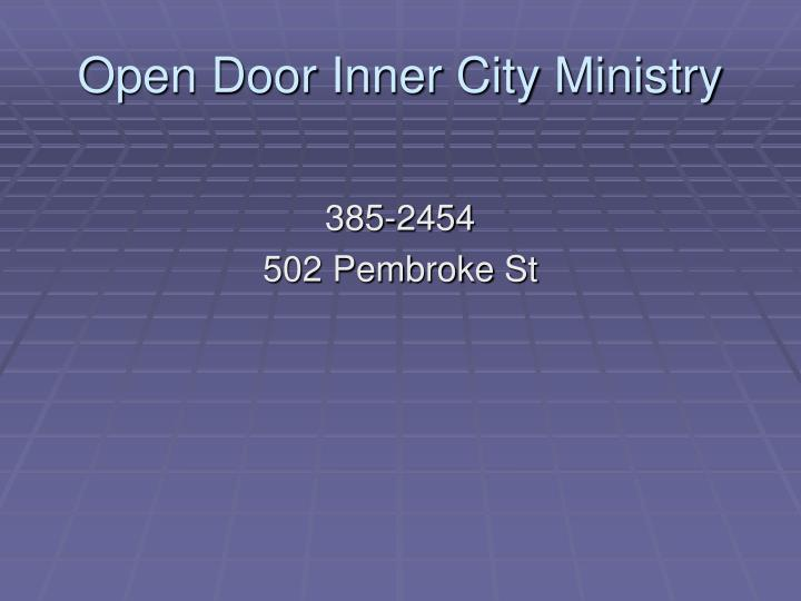 Open Door Inner City Ministry