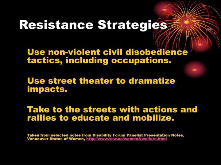 Resistance Strategies