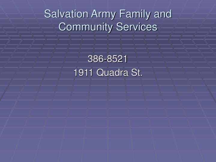Salvation Army Family and