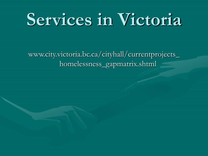 Services in Victoria