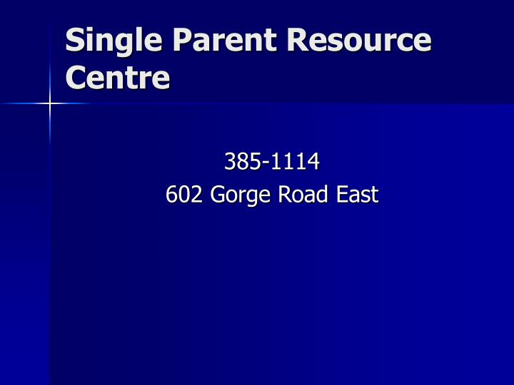 Single Parent Resource Centre