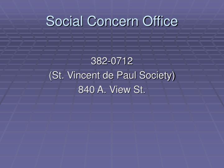 Social Concern Office