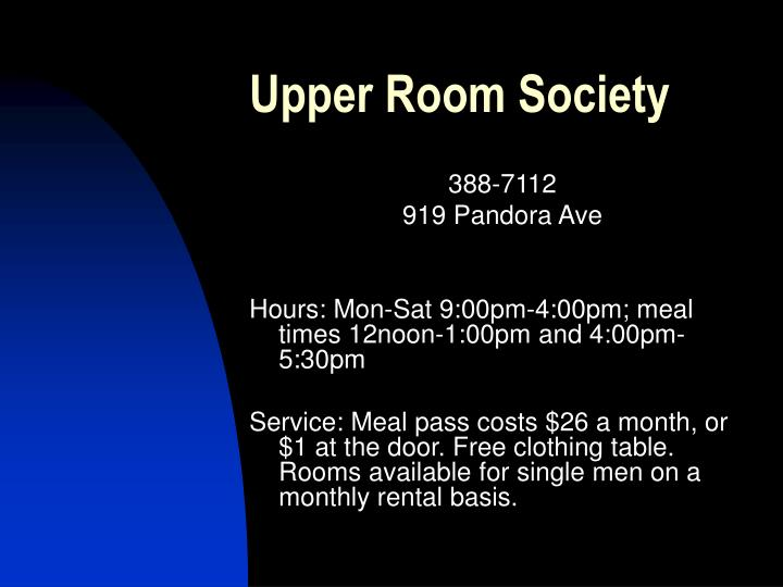Upper Room Society