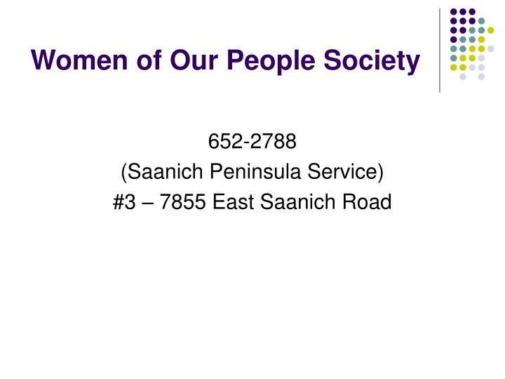 Women of Our People Society
