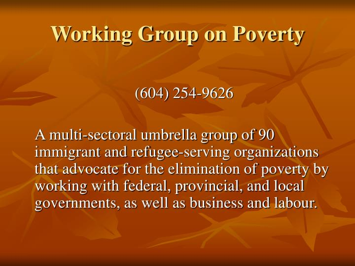 Working Group on Poverty