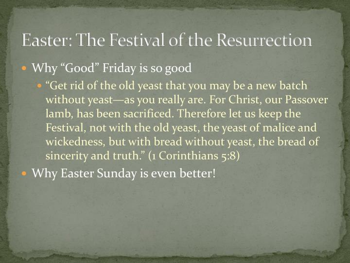 Easter: The Festival of the Resurrection