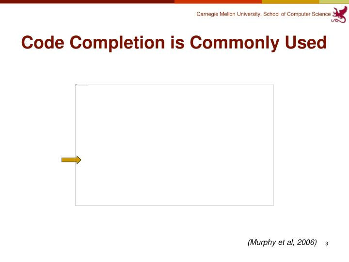 Code Completion is Commonly Used