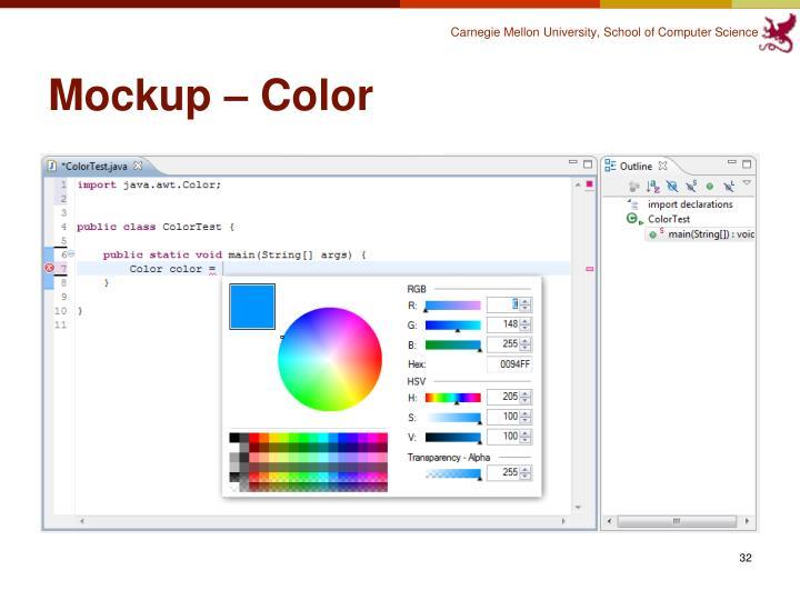Mockup – Color