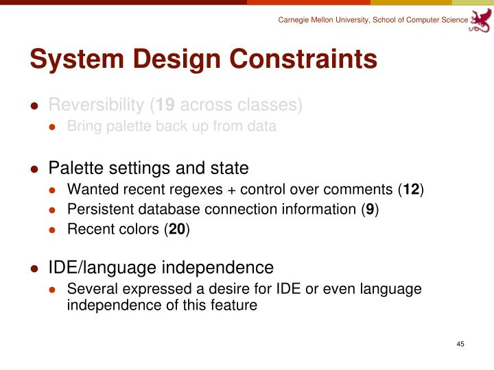 System Design Constraints