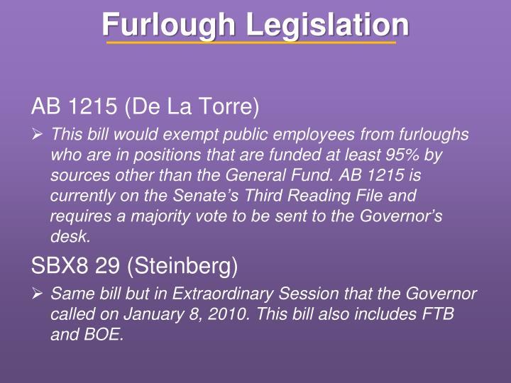 Furlough Legislation