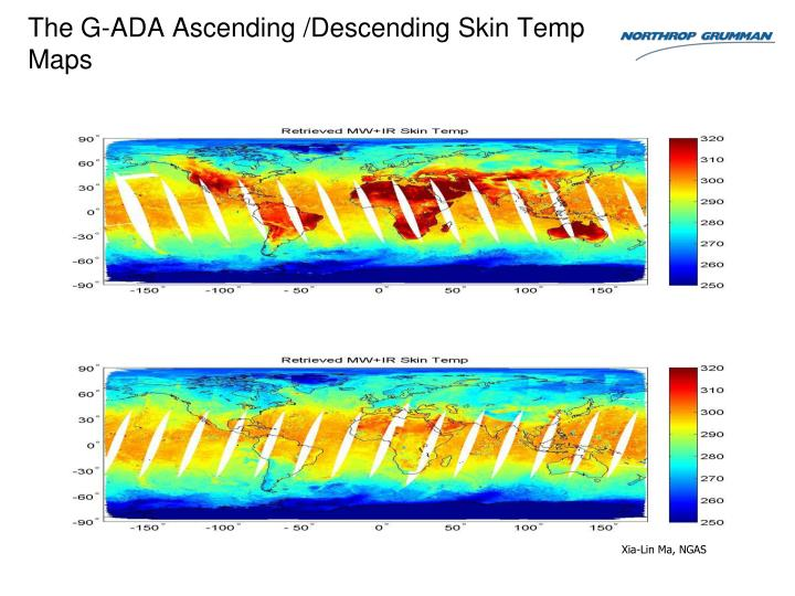 The G-ADA Ascending /Descending Skin Temp  Maps