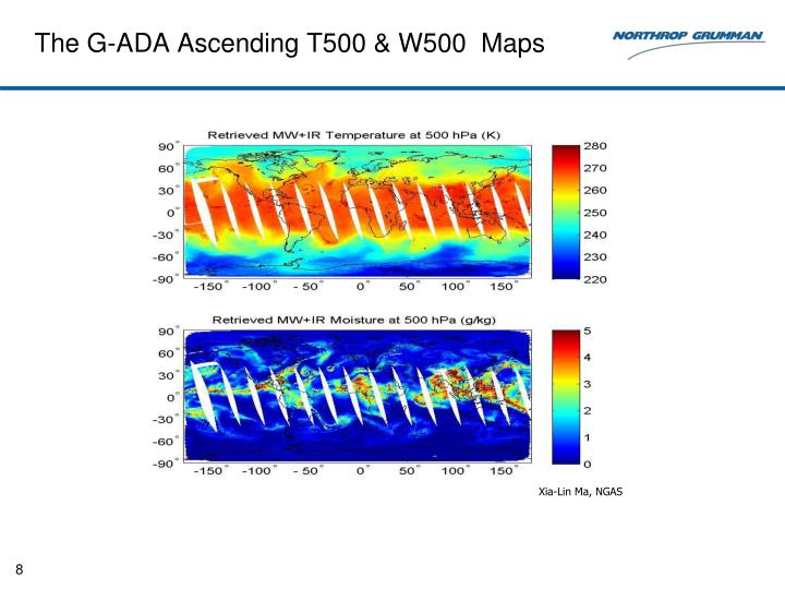The G-ADA Ascending T500 & W500  Maps