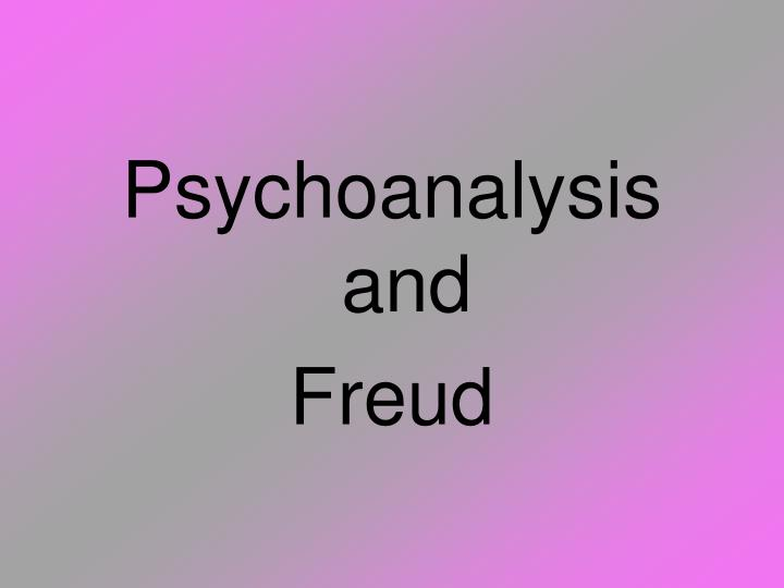 Psychoanalysis and
