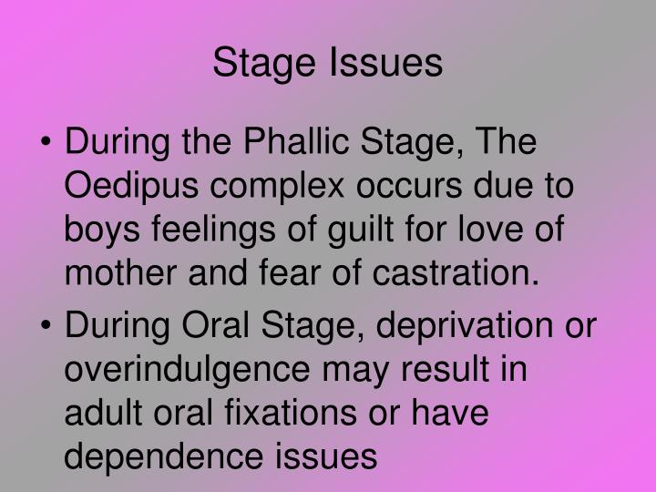 Stage Issues