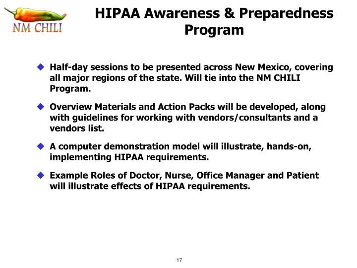 HIPAA Awareness & Preparedness Program