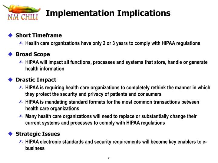 Implementation Implications