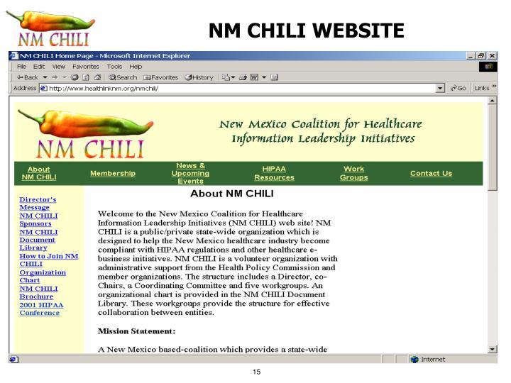 NM CHILI WEBSITE