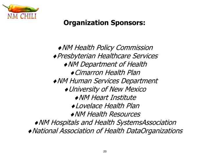 Organization Sponsors: