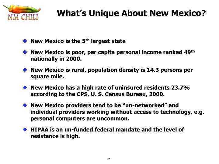 What's Unique About New Mexico?